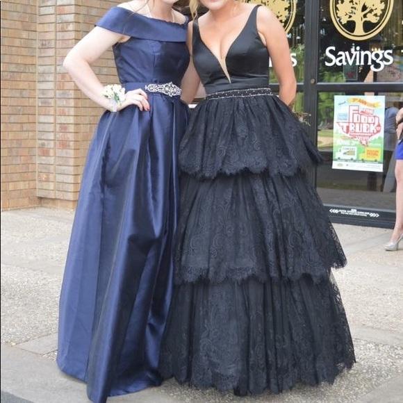 Sherri Hill Dresses Black Lace Prom Dress Formal Dress Poshmark